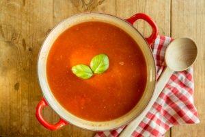 tomatensoep, pan